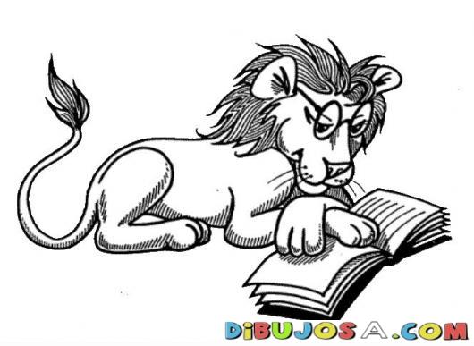 Dibujos Para Colorear De Animales Leyendo ~ Ideas Creativas Sobre ...